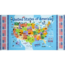 Usa Maps States by Timeless Treasures Usa Map Panel Map Discount Designer Fabric