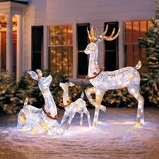 lighted reindeer twinkling lighted reindeer family improvements
