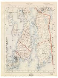 Ri Map Old Rhode Island Usgs Maps 1891 Walker Atlas