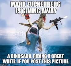 Thinking Dinosaur Meme Generator - dinosaur riding shark memes imgflip