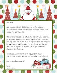 santa claus letters christmas child letter template fresh printable blank santa claus