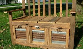 Outside Storage Bench Bench Patio Bench With Storage Awesome Outside Bench Diy Outdoor