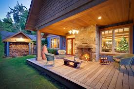 dazzling outside fireplace fashion vancouver traditional porch