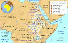 nile river on map grolier atlas