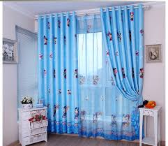 Childrens Curtains Girls Free Shipping Children U0027s Curtains Mickey Cartoon Blue Beige