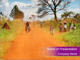 african village powerpoint template u0026 backgrounds id 0000025619