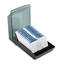 Rolodex Desk Accessories Rolodex 67037 Rolodex Covered Business Card File 500