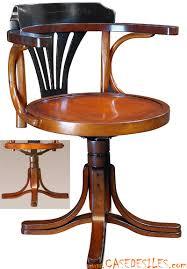 chaise de bureau style industriel fauteuil de bureau commissaire de bord noir mf081