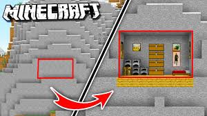 make a house inside a mountain in minecraft youtube