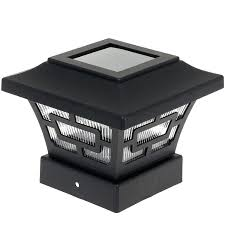 Solar Light Caps For Deck Posts by Solar Post Cap Lights 4x4 White Deck 6x6 37019 Interior Decor