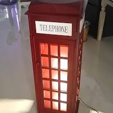 london phone booth bookcase london phone booth with lights bookshelf furniture home decor