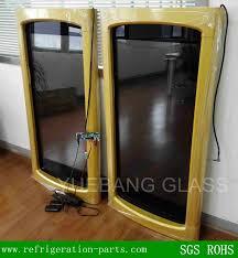 glass door chest freezer lcd transparent display glass door for freezer