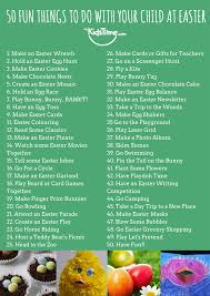 50 fun things to do at easter with kids checklist