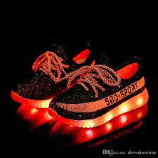light up running shoes wholesale big kids boys girls athletic lights up led luminous shoes