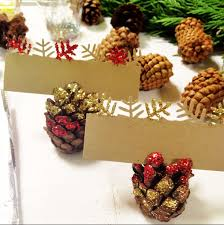 holiday pinecone placecard holders an appealing plan