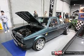 volkswagen caddy pickup lifted air ride superfly autos
