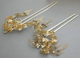 japanese hair ornaments antique japanese hair ornament large silver kanzashi item 653750