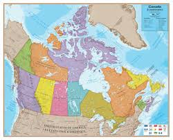 Maps Canada by Canada Laminated Wall Map For 30 99 At Mcmaps Com