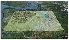 Topographical Map Of New Mexico by Google Earth Library