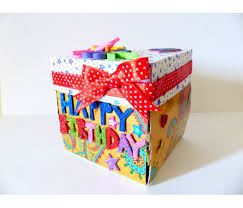 box of greeting cards quilled birthday explosion box greeting card