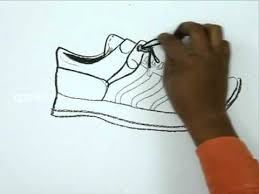 how to draw a sports shoe youtube