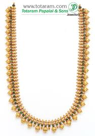 long necklace designs images 22k gold double side design long necklace temple jewellery 235 jpg