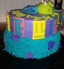 monsters inc baby shower cake s inc themed baby shower cake cakecentral