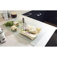 plan de travail cuisine verre planche à découper en verre pour plan de travail leroy merlin