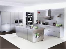 cuisines inox cuisine modèle 4054 xl effet inox idée de décoration cuisines
