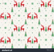 pixel wrapping paper christmas seamless pattern deer snowflake tree stock vector