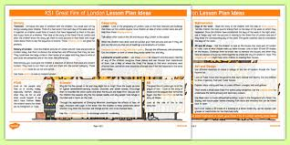 the great fire of london lesson plan ideas ks1 the great fire