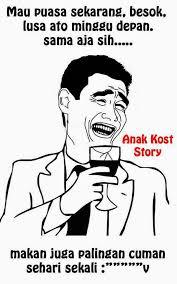 meme comic versi ramadhan asal tau