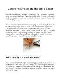 country sample hardship letter