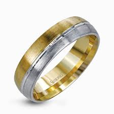two tone wedding rings 14k white yellow gold two tone men s wedding band simon g