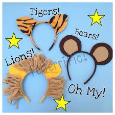 tiger headband handmade animal ear headband lion tiger or