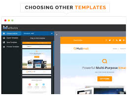 multimail responsive email template with template builder by