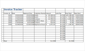 10 invoice tracking templates u2013 free sample example format
