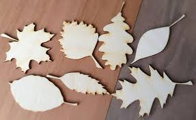 14 pieces craft wood shapes fall leaves