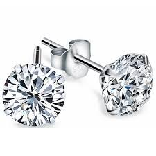 diamond earrings for sale 2017 new real 925 sterling silver jewelry stud earrings