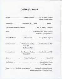 Program For Funeral Service Funeral Program For Benjamin Norris Samples Page 2 Of 10 The