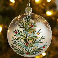 this handblown painted ornament is a one of a design