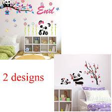 Nursery Decor Wall Stickers Jm8243 Ay9220 Panda Owl Tree Beautiful Flower Nursery Decor