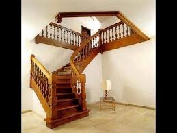 wooden stairs design kerala style wooden staircase designs modern youtube