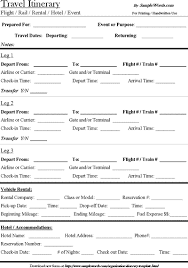 travel itinerary images Travel itinerary template download microsoft word document gif