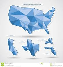 Usa Maps States by Geometric Blue Usa Map And States Stock Vector Image 60496213