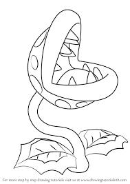 learn draw piranha plant super mario super mario
