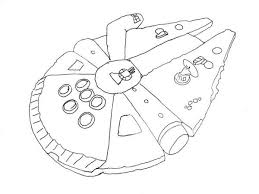 simple millenium falcon star wars ship coloring pages action