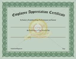 employee recognition certificate template appreciation awards