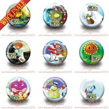 Plants Vs Zombies Decorations 18pcs Plants Vs Zombies Fashion Badges Button Pin Round Brooch