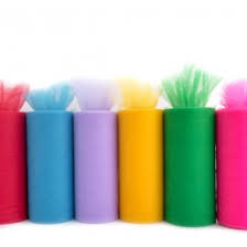 spools of tulle spools ribbons notions
